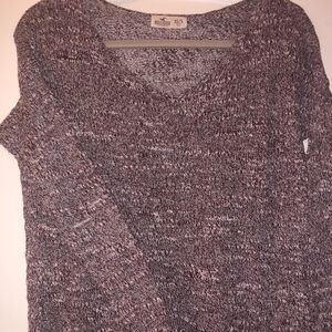 Hollister Sweater - Maroon & White